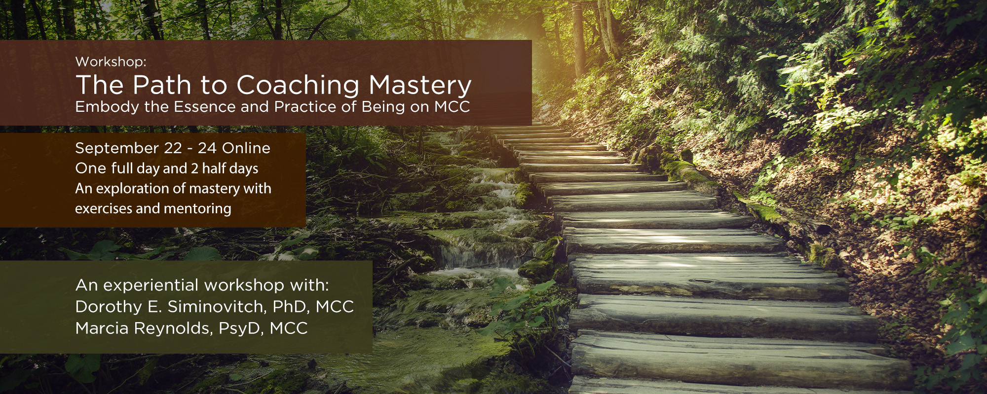 Dorothy-Coaching Mastery Course Registration-Slider