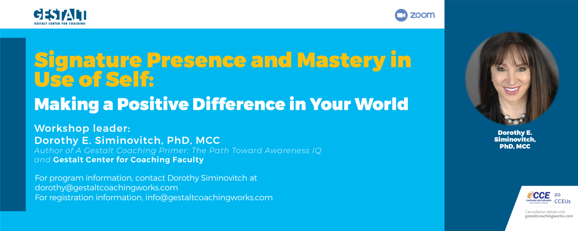 Presence and Mastery in Use of Self